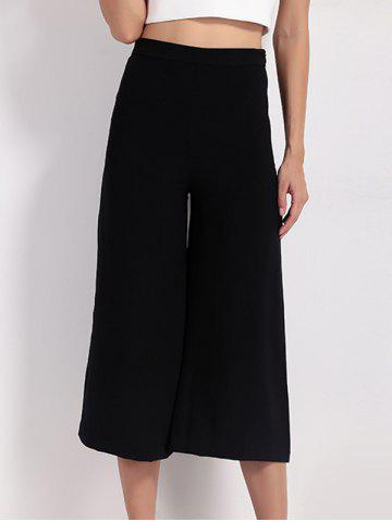 Shops High Waist Wide Leg Capri Pants