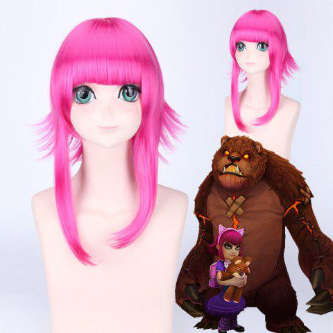 League of Legends LOL Classique Annie Fluffy Hétéro Anti Alice Hair Rose perruque cosplay