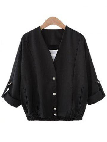 Cheap Buttoned Pocket Design Coat