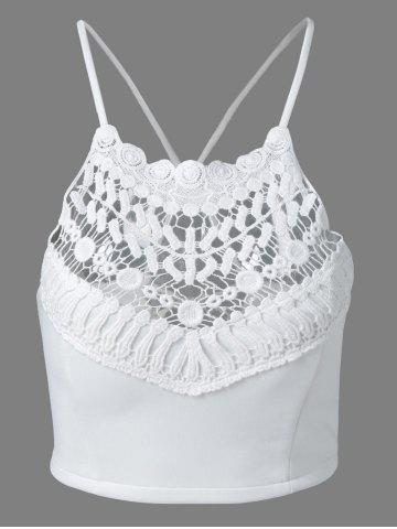Hot Crochet Embroidery Crossback Tank Top
