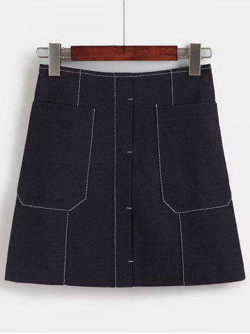 Best Charming High-Waisted Pocket Design Women's Skirt