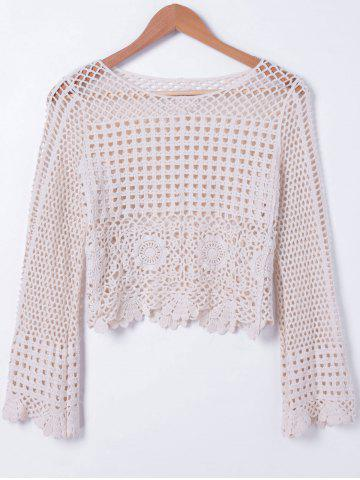 Hot Fashionable Hollow Out Crochet Blouse