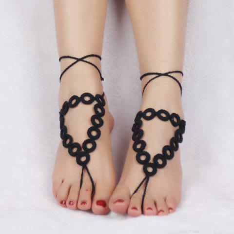 Chic Handmade Triangle Crochet Anklets For Women