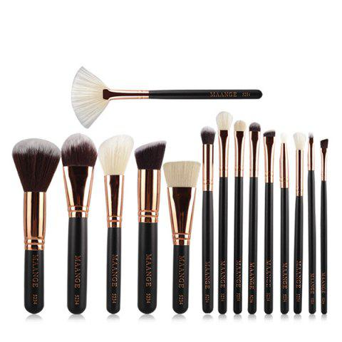 Cheap 15 Pcs Nylon Facial Eye Lip Makeup Brushes Set