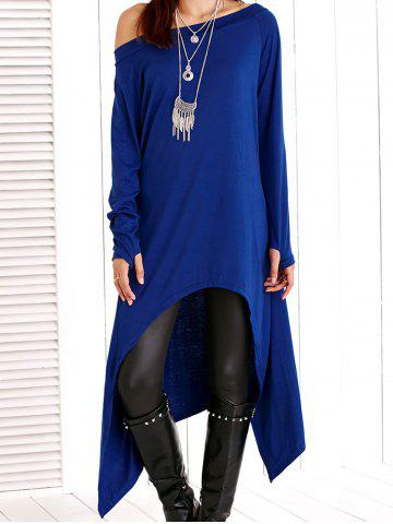 Online Skew Neck High Low Asymmetric Dress