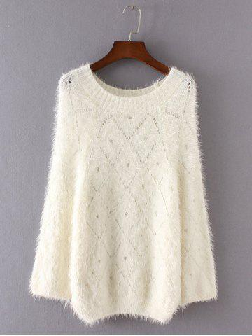 Fashion Openwork Loose-Fitting Shaggy Sweater