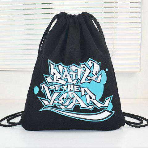 Cheap Casual Graffiti Print and Canvas Design Backpack For Women