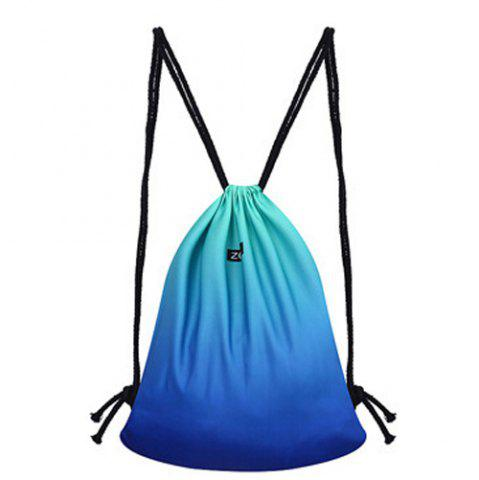 Discount Casual Drawstring and Gradient Color Design Backpack For Women