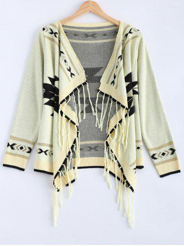 Shop Long Sleeve Fringed Loose Cardigan