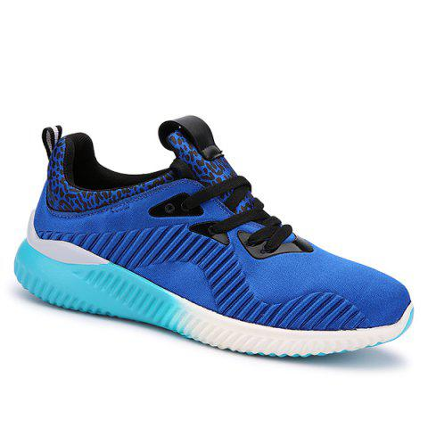Unique Fashion Lace-Up and Splicing Design Athletic Shoes For Men - 43 BLUE Mobile