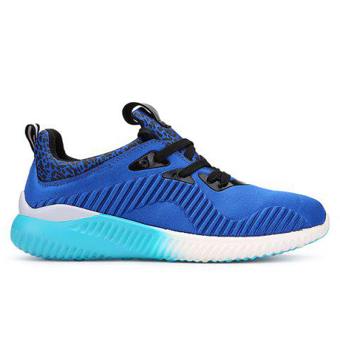 Outfits Fashion Lace-Up and Splicing Design Athletic Shoes For Men - 43 BLUE Mobile