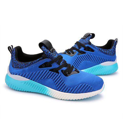 Discount Fashion Lace-Up and Splicing Design Athletic Shoes For Men - 43 BLUE Mobile