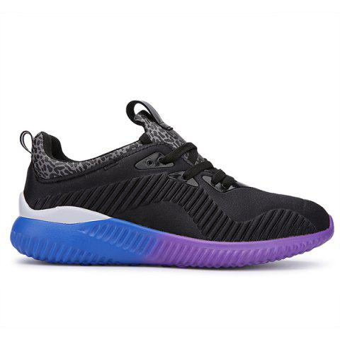 Online Fashion Lace-Up and Splicing Design Athletic Shoes For Men - 43 BLACK Mobile