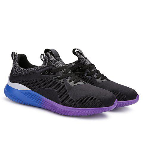 Sale Fashion Lace-Up and Splicing Design Athletic Shoes For Men - 43 BLACK Mobile