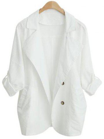 Outfits Turn Down Collar Loose-Fitting Thin Coat