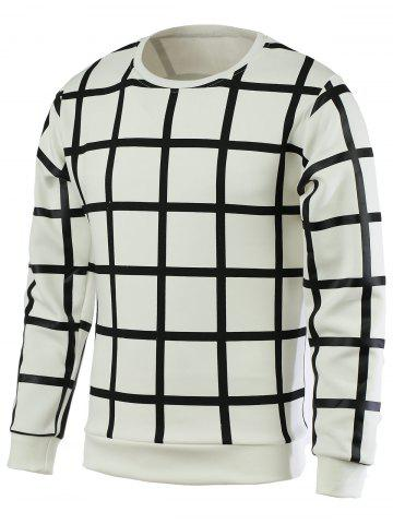 Trendy Plaid Round Neck Long Sleeve Pullover T-Shirt For Men