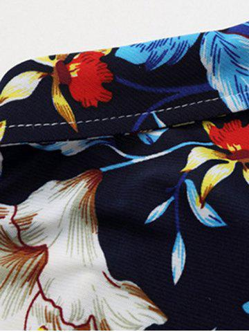 Online Casual Long Sleeve Floral Printed Hawaiian Shirt - L COLORMIX Mobile
