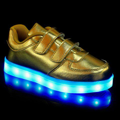 Shops Trendy Solid Colour and Lights Up Led Luminous Design Casual Shoes For Boy