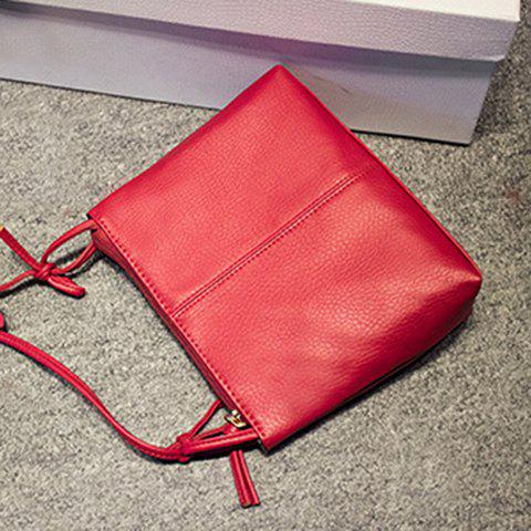 Buy Simple Style Solid Colour and PU Leather Design Crossbody For Women - RED  Mobile