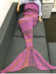 High Quality Super Soft Crochet Knitted Mermaid Tail Sofa Blanket -