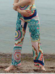 Colorful Tribal Pattern Straight Pants -
