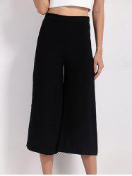 High Waist Wide Leg Capri Pants