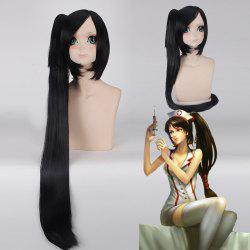 League of Legends LOLNurse Akali Black Straight With Ponytail Synthetic Cosplay Wig -