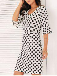 Bell Sleeves Polka Dot Dress