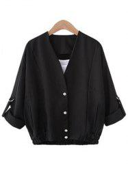 Buttoned Pocket Design Coat -