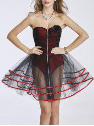 Bustier zippé Mesh Dress -