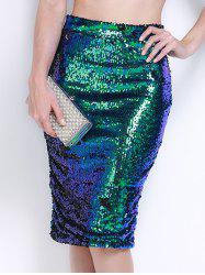 High Waist Sequined Bodycon Sequin Pencil Skirt
