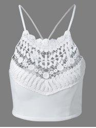 Crochet Embroidery Crossback Tank Top -