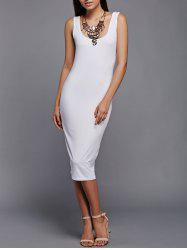 Fitted Midi Tank Dress