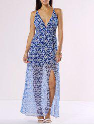 Flower Pattern Spaghetti Strap Maxi Dress