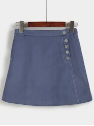 Trendy High-Waisted Pocket Design Slimming Women's Skirt -
