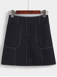 Charming High-Waisted Pocket Design Women's Skirt -
