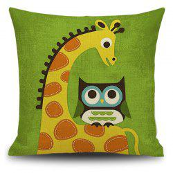 Cartoon Animal Pattern Home Decorative Pillow Case -