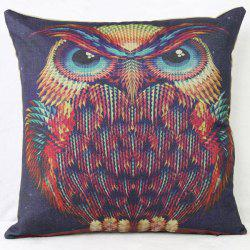 Artistic Owl Animal Cushion Cover Pillow Case - CONCORD