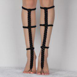 Pair of Chic Hollow Out Crochet Anklets For Women -