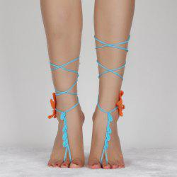Handmade Starfish Crochet Anklets For Women