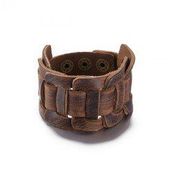 Vintage Faux Leather Bracelet
