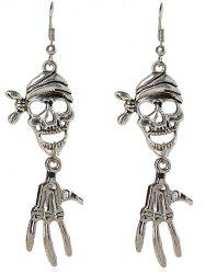Pair of Halloween Pirate Skull Earrings