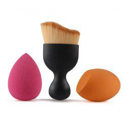 3 Pcs/Set Wave Shape Blush Brush + Bevel Cut Makeup Sponge + Makeup Sponge