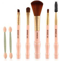 7 Pcs Gourd Shape Nylon Facial Eye Lip Makeup Brushes Set -