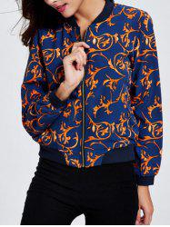 Ornate Print Bomber Jacket
