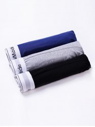 Cherlamode 3PCS (Three Color) U Convex Pouch Boxer Briefs For Men - COLORMIX