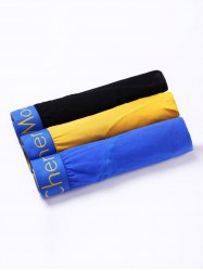 Cherlamode (Three Color) 3PCS U Pouch Hem Design Boxer Briefs For Men - COLORMIX