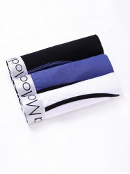 Cherlamode (Three Color) 3PCS U Pouch Design Band Boxer Shorts For Men - COLORMIX