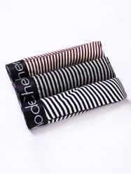 Cherlamode (Three Color) 3PCS U Pouch Design Stripe Boxer Shorts For Men