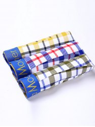 Cherlamode 3PCS (Three Color) Tartan Pattern Boxer Briefs For Men
